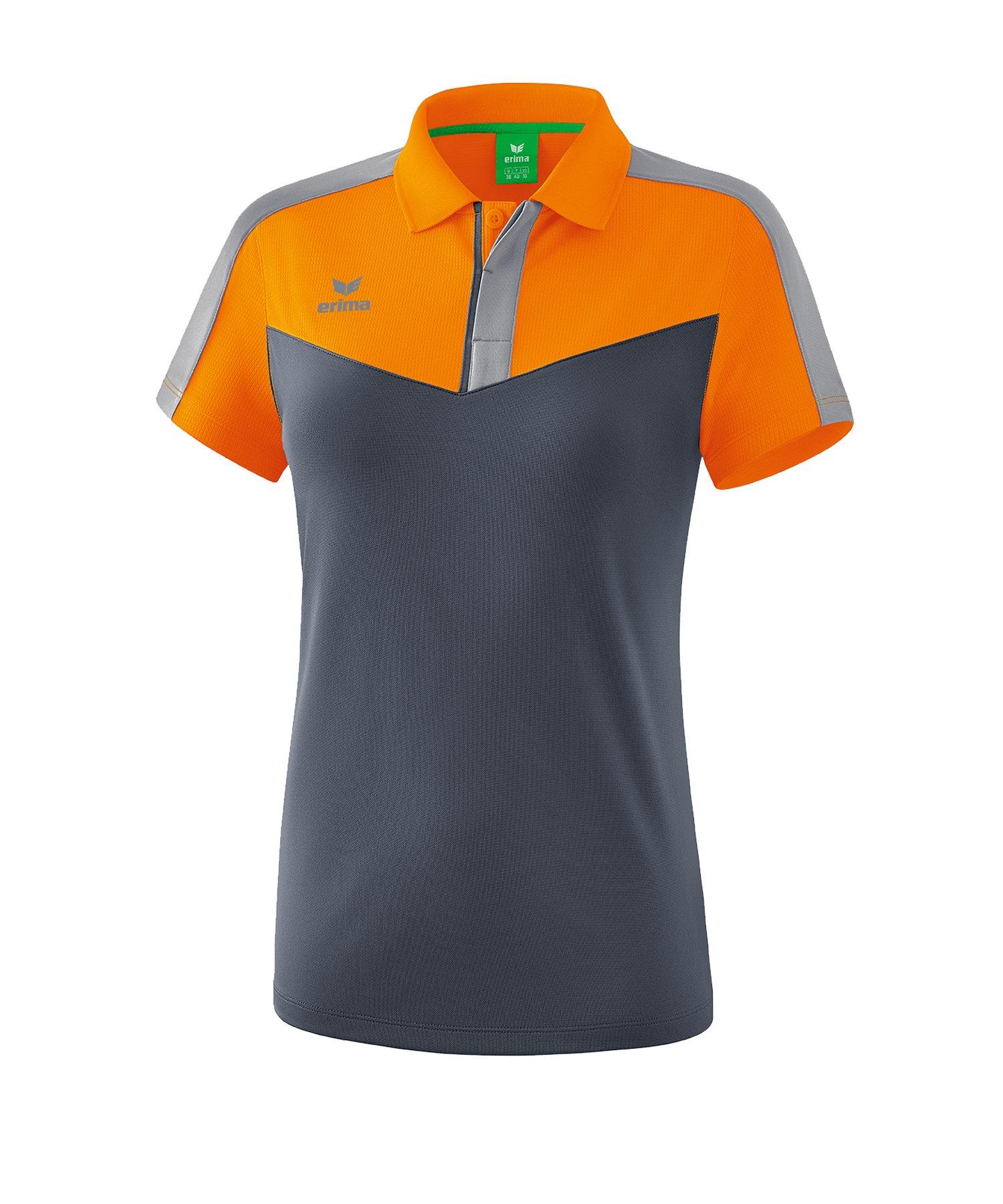 Erima Squad Poloshirt Damen Orange Grau - orange