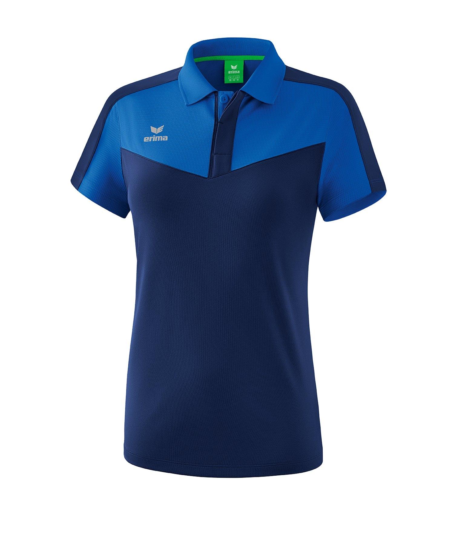 Erima Squad Poloshirt Damen Blau - blau