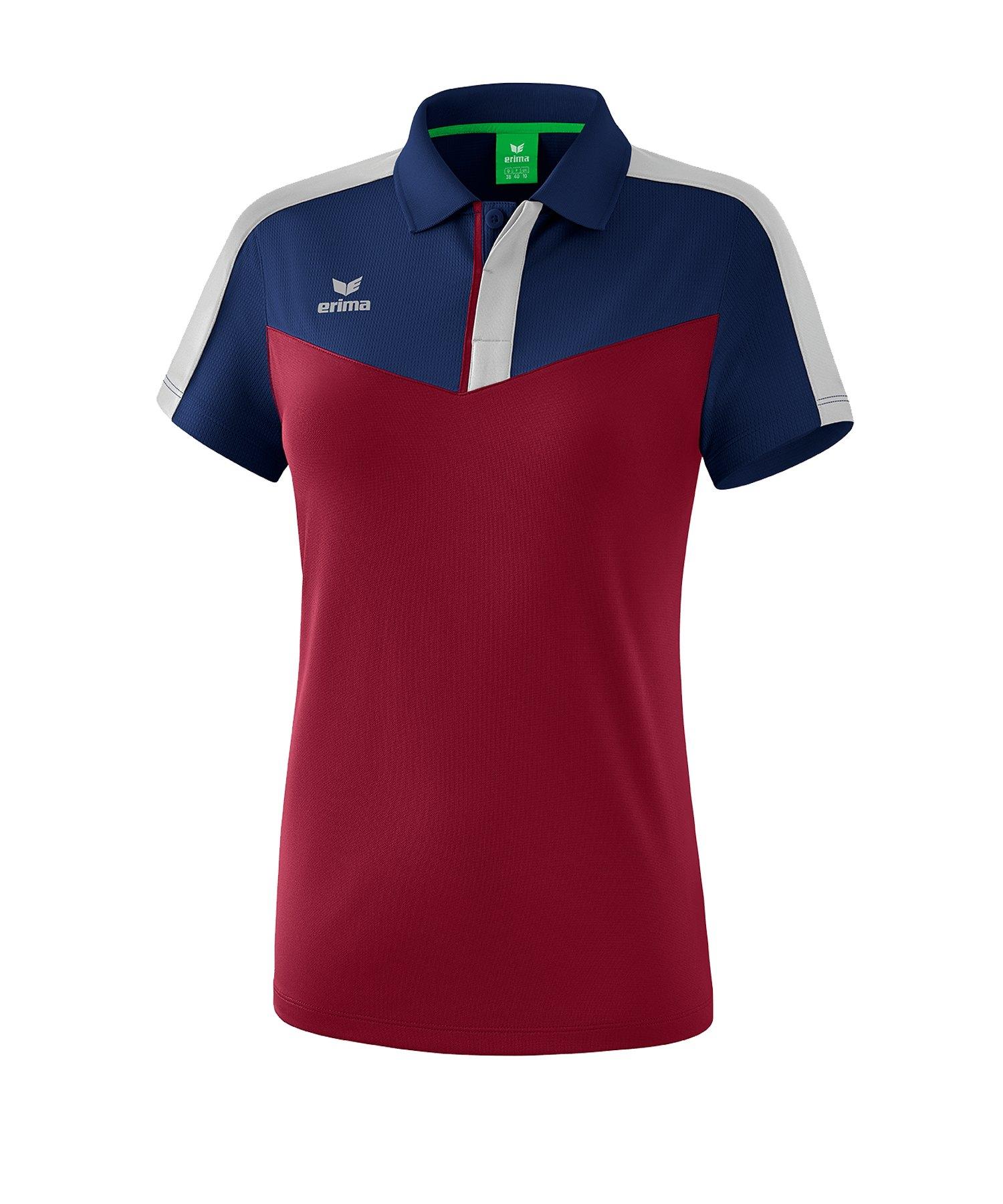 Erima Squad Poloshirt Damen Blau Rot - blau
