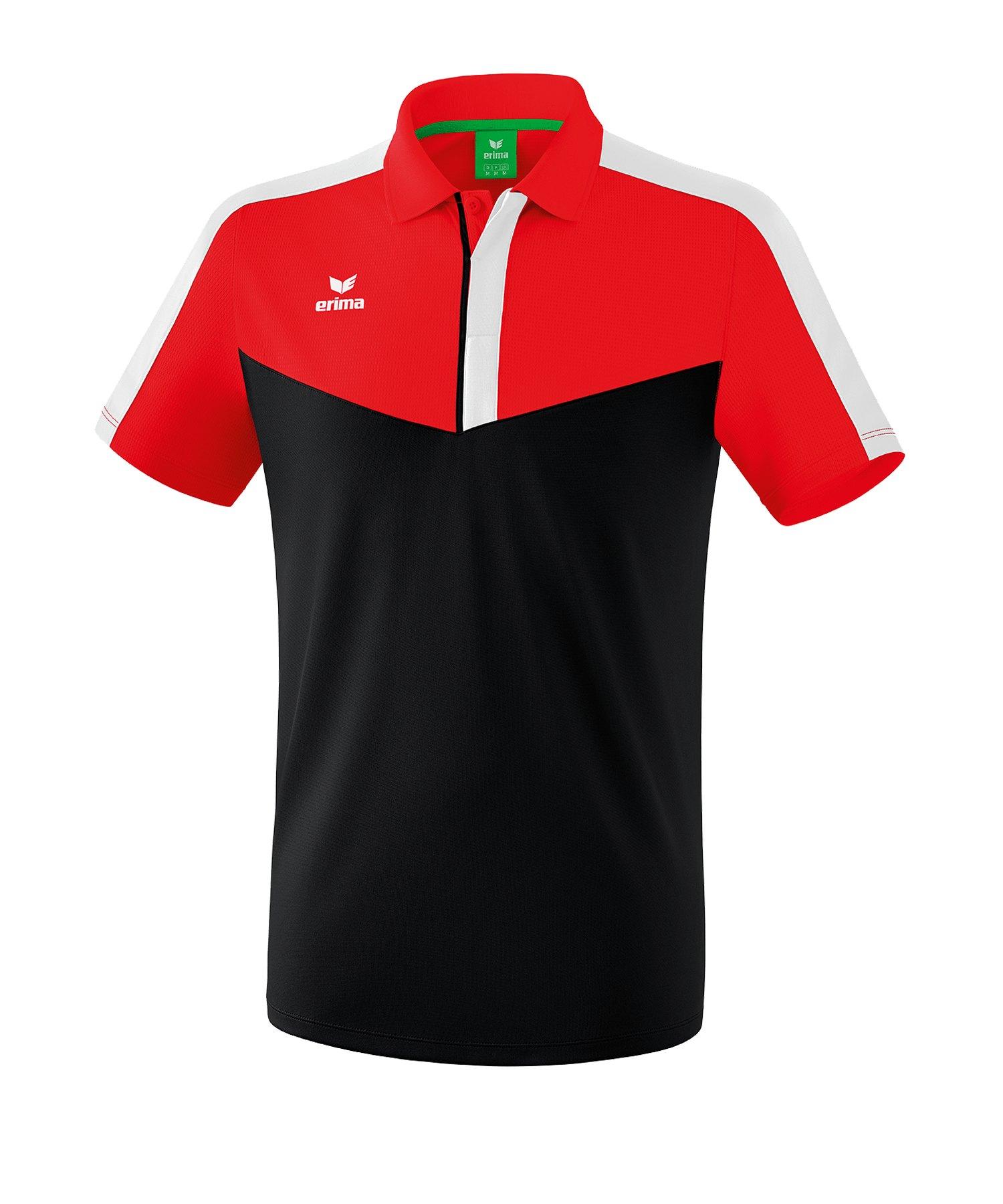 Erima Squad Poloshirt Rot Schwarz - rot