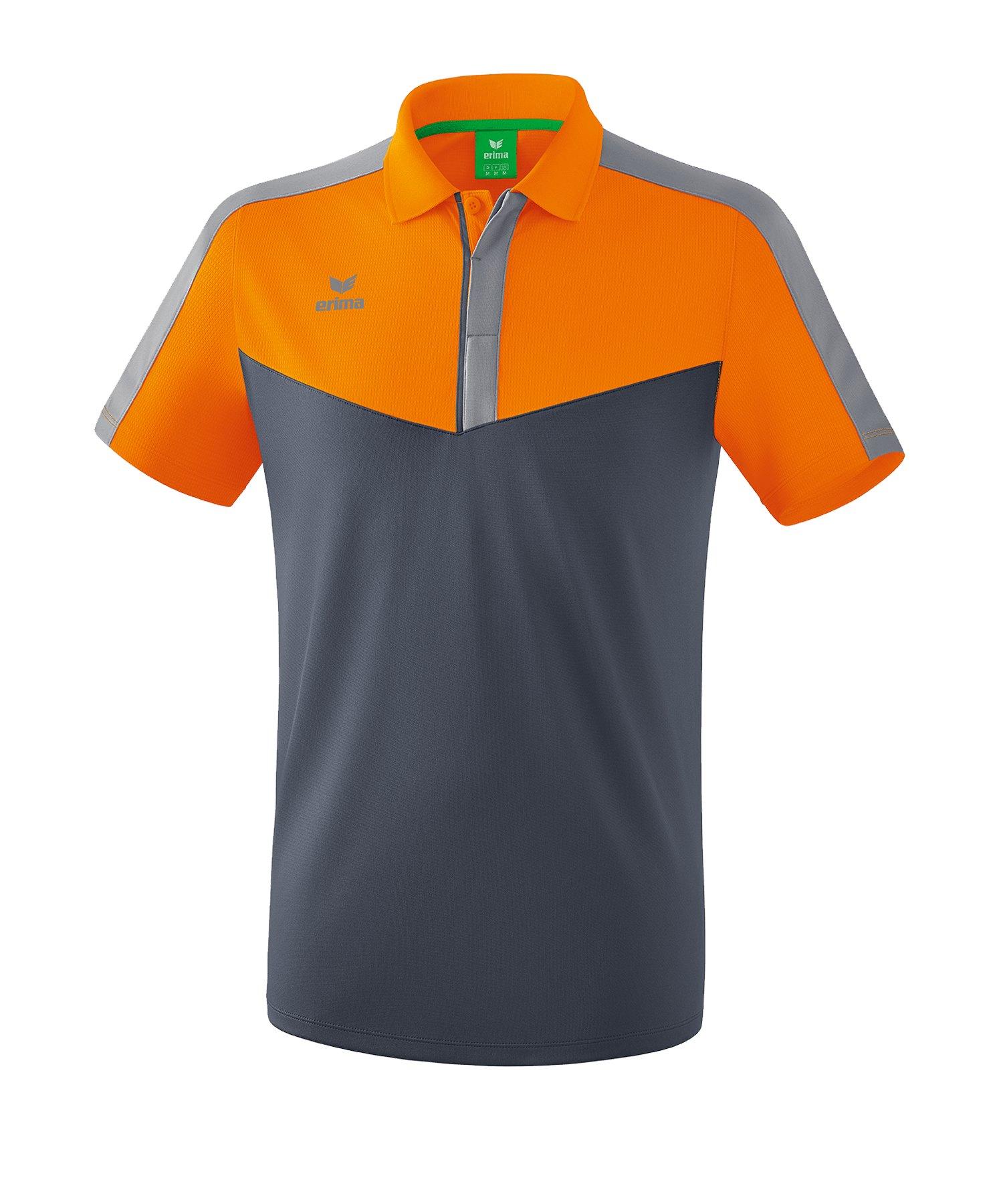 Erima Squad Poloshirt Orange Grau - orange