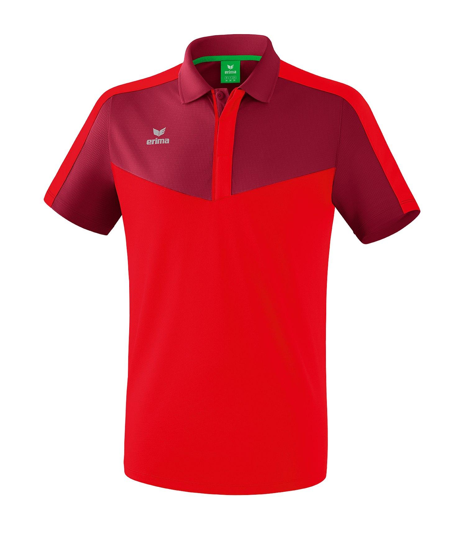 Erima Squad Poloshirt Rot - rot
