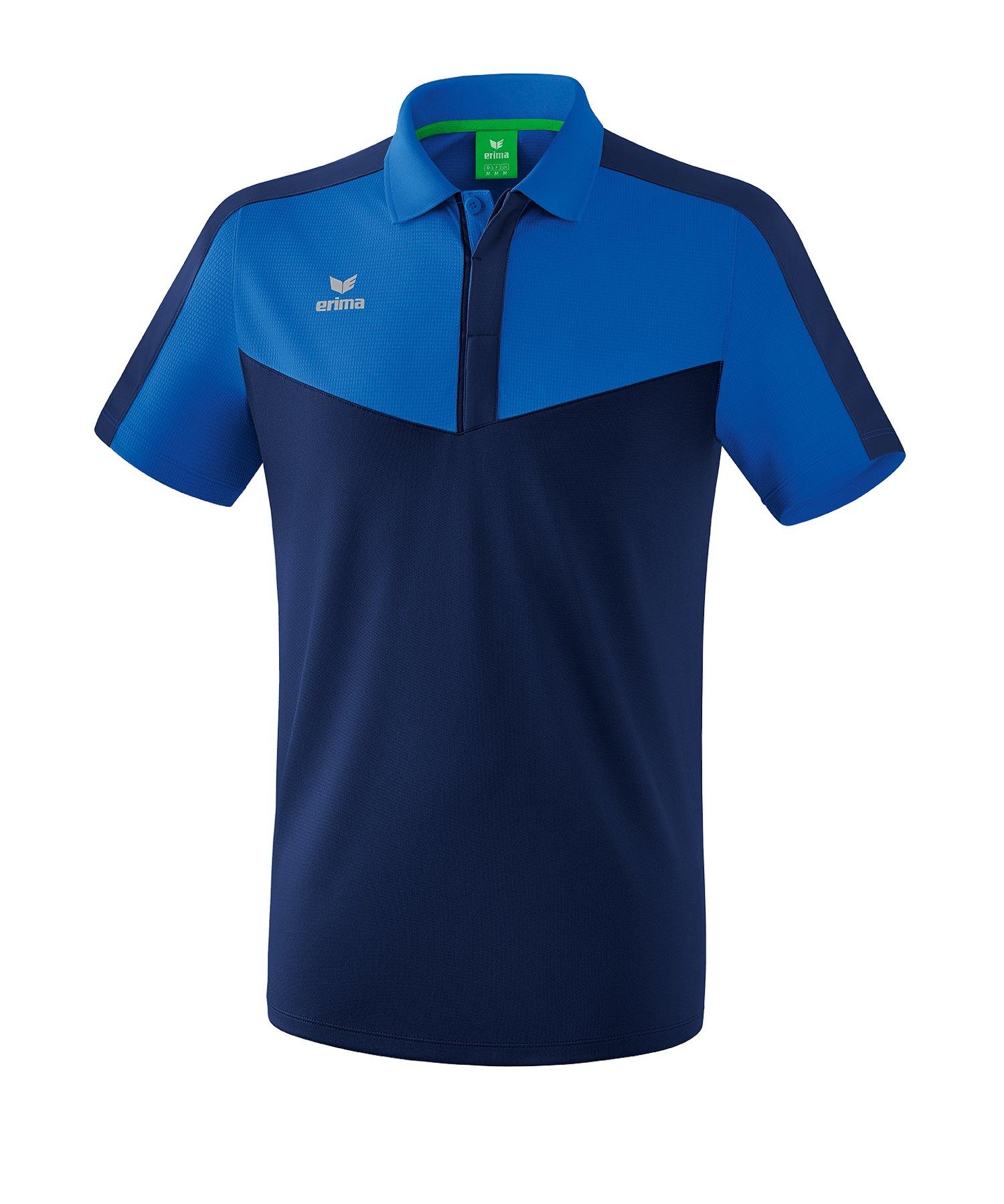 Erima Squad Poloshirt Blau - blau