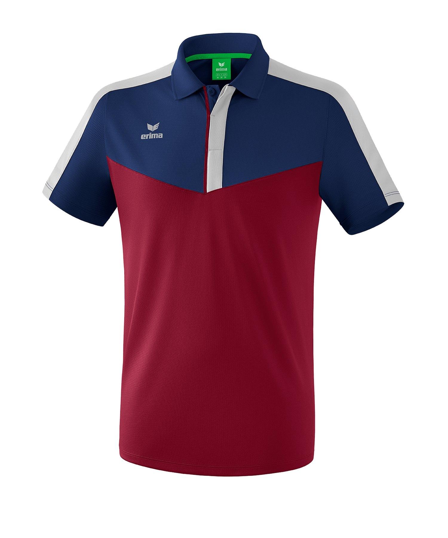 Erima Squad Poloshirt Blau Rot - blau
