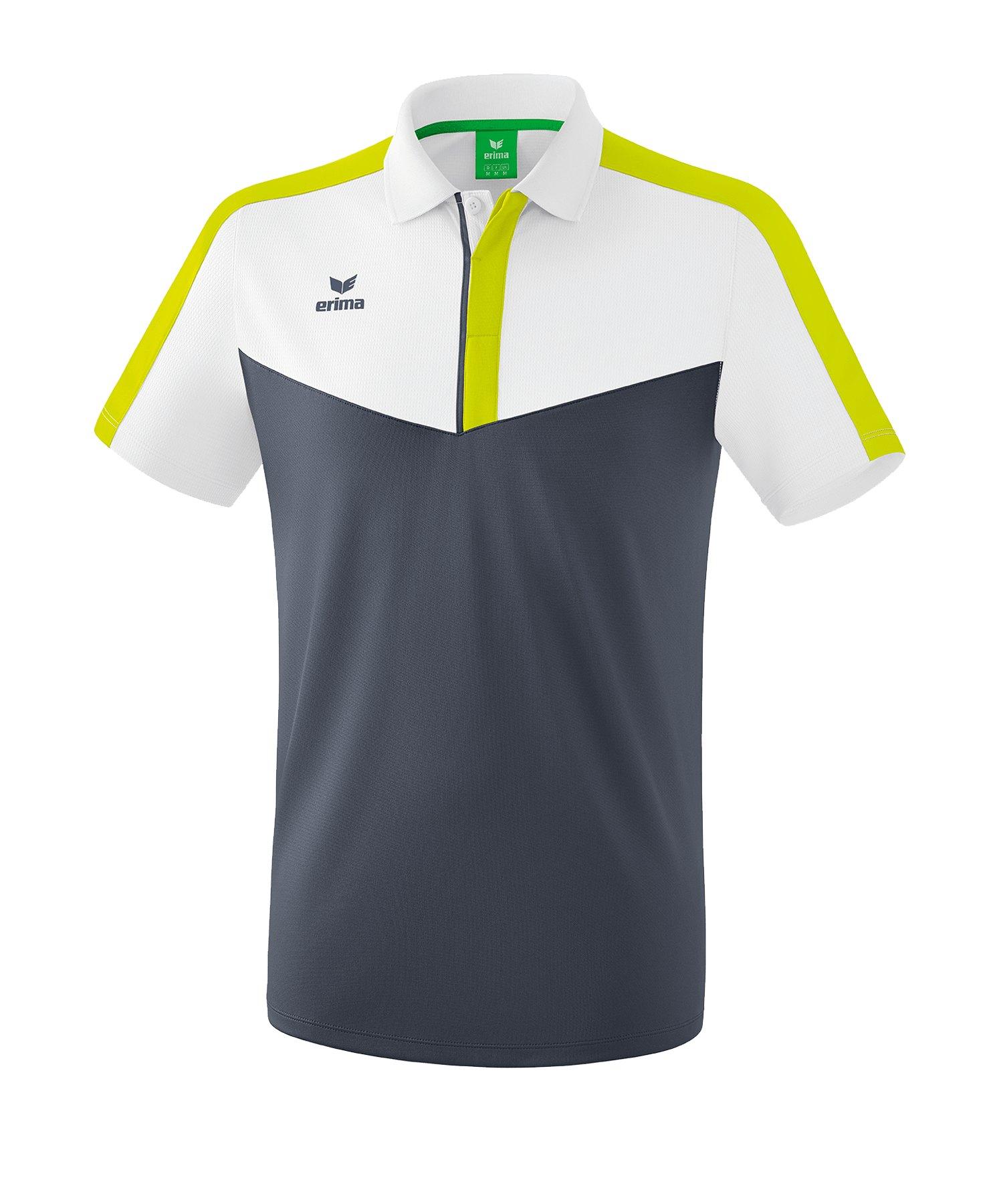 Erima Squad Poloshirt Weiss Grau - weiss