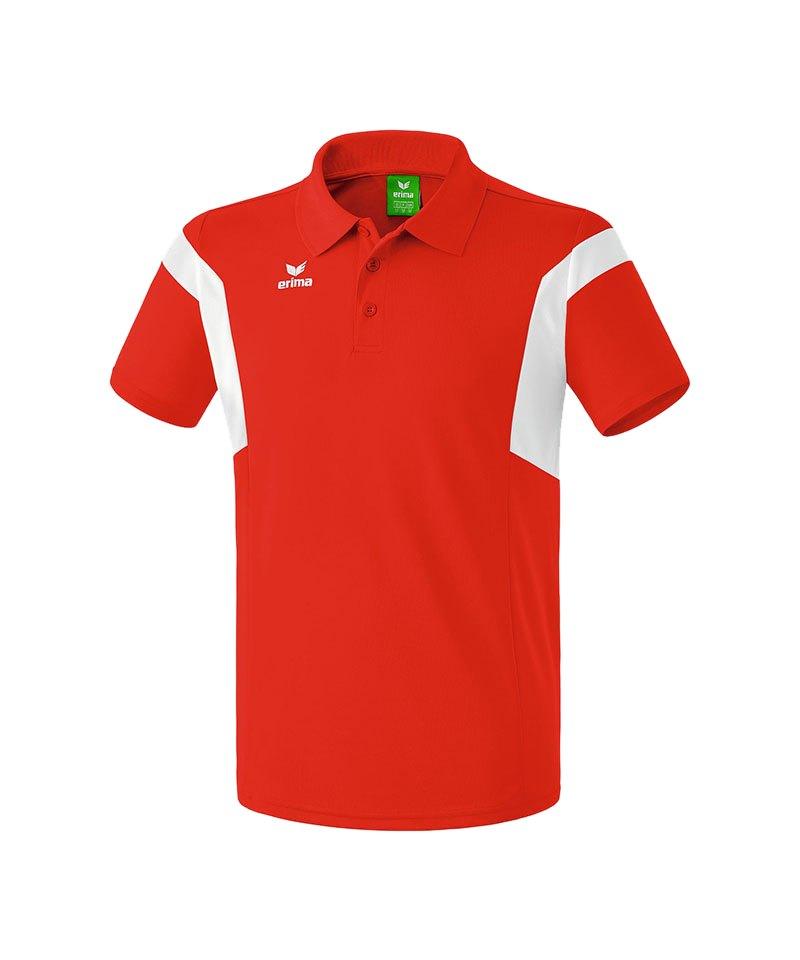 Erima Poloshirt Classic Team Rot Weiss - rot