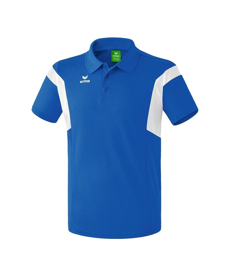 Erima Poloshirt Classic Team Blau Weiss - blau