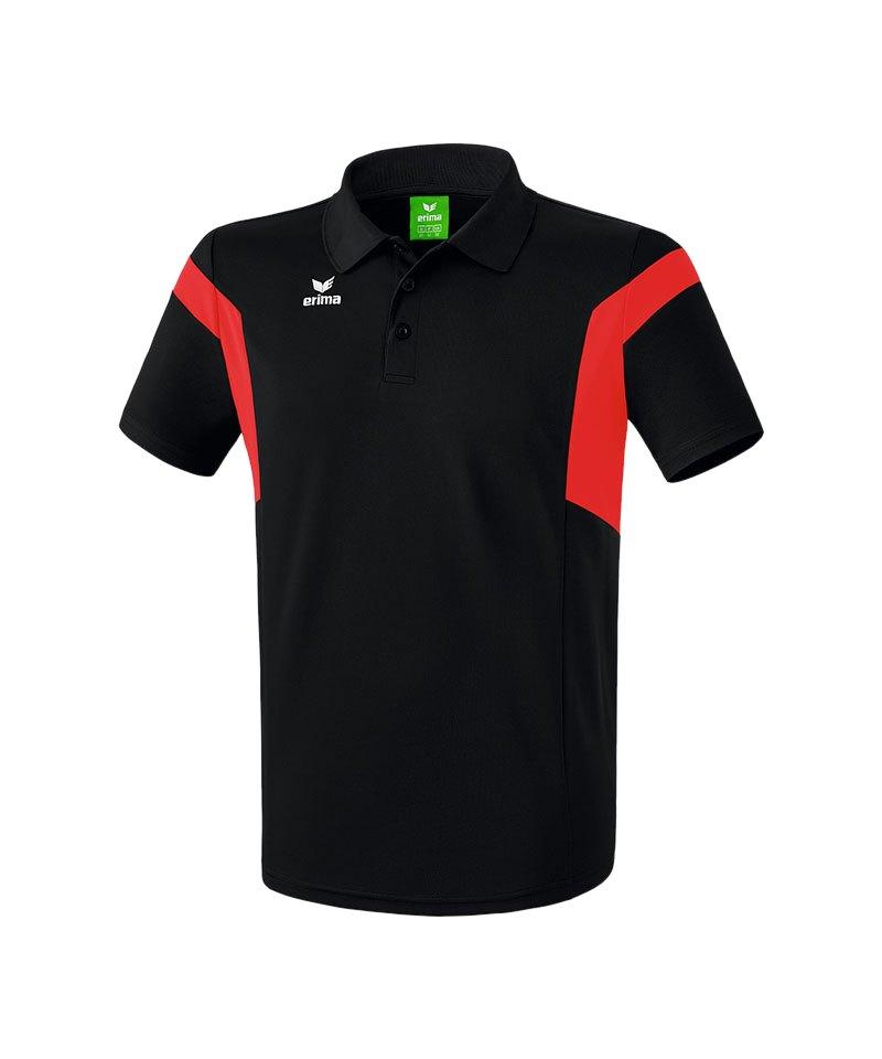 Erima Poloshirt Classic Team Schwarz Rot - schwarz