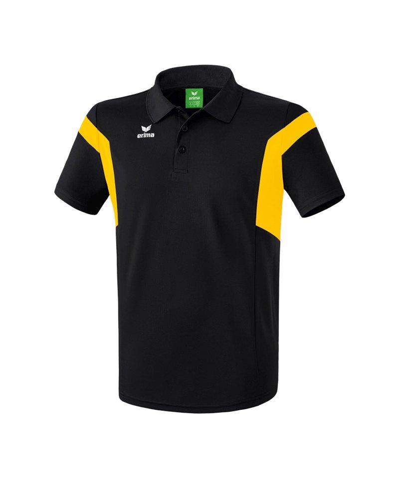 Erima Poloshirt Classic Team Schwarz Gelb - schwarz