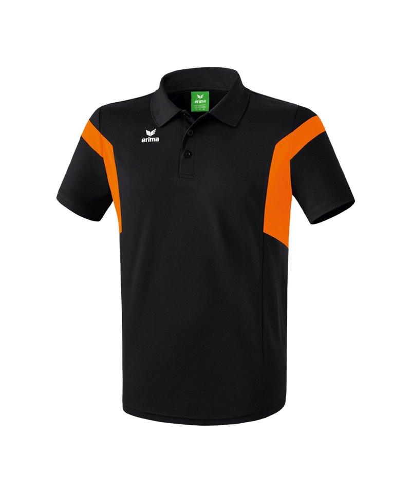 Erima Poloshirt Classic Team Schwarz Orange - schwarz