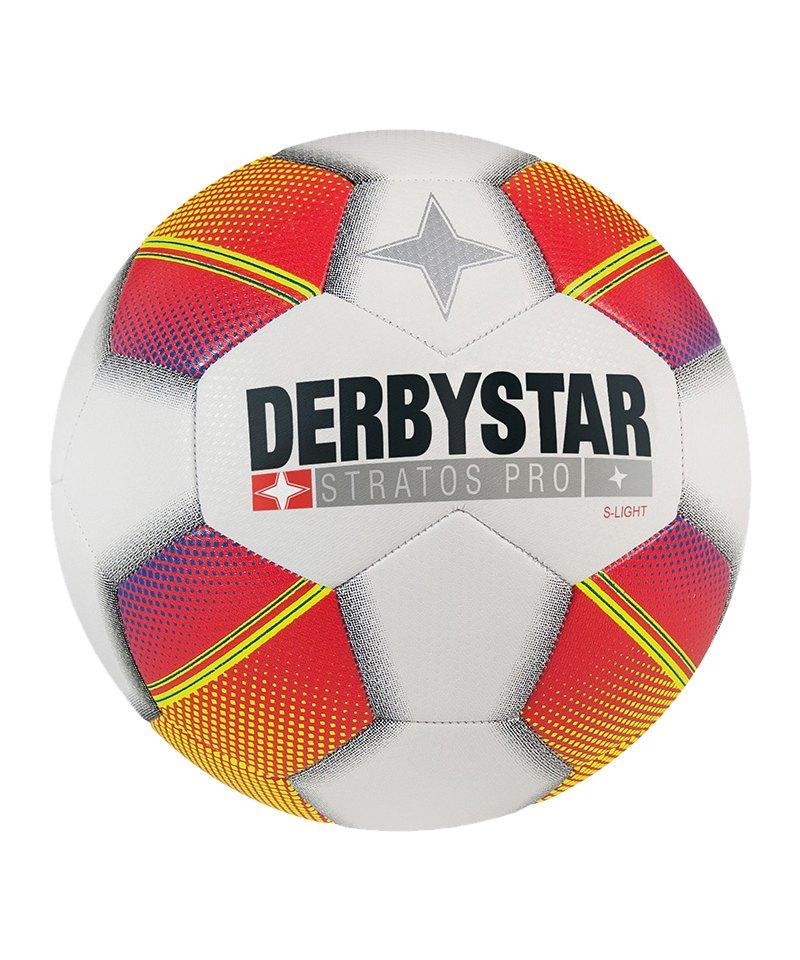 Derbystar Stratos Pro S-Light Fußball Weiss F135 - weiss