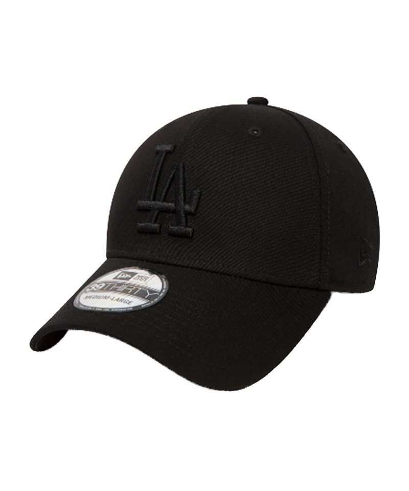 New Era LA Dodgers 39Thirty Flexcap Schwarz - schwarz