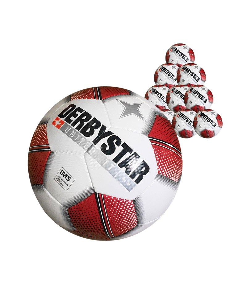 Derbystar United TT 50xFussball Weiss - weiss