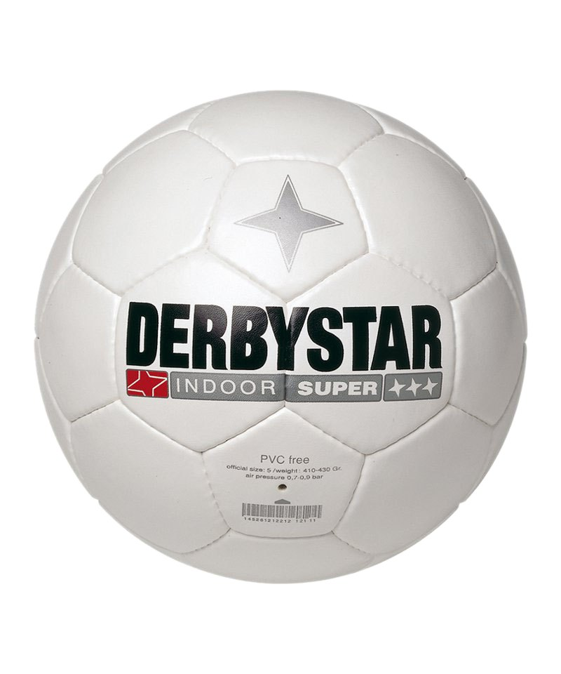 Derbystar Fussball Indoor Super Weiss - weiss