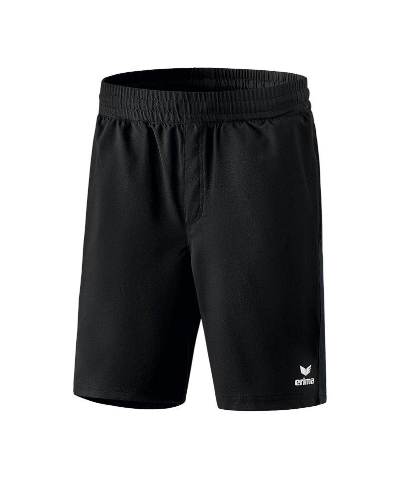 Erima Premium One 2.0 Short mit Slip Kids Schwarz - schwarz