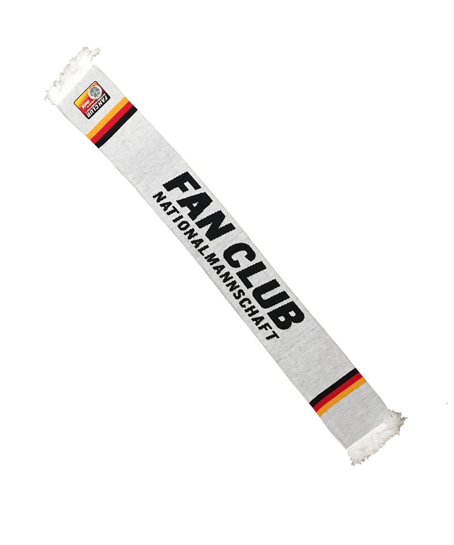 DFB Deutschland Fan Club Schal Weiss - weiss