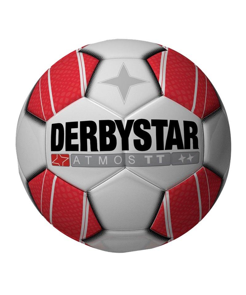 Derbystar Trainingsball Atmos TT Weiss Rot F130 - weiss