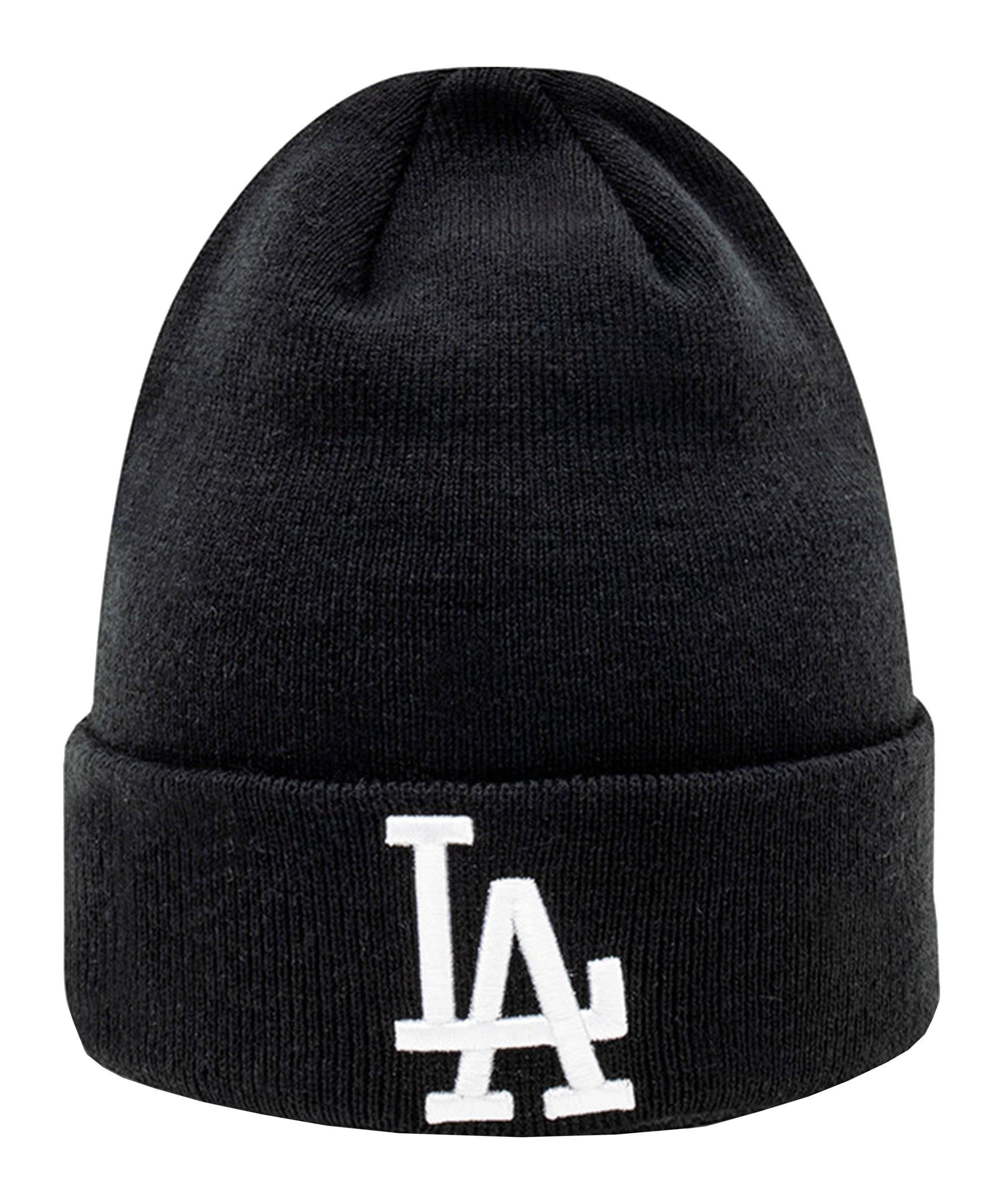 New Era LA Dodgers Cuff Beanie Schwarz FBLKWHI - schwarz