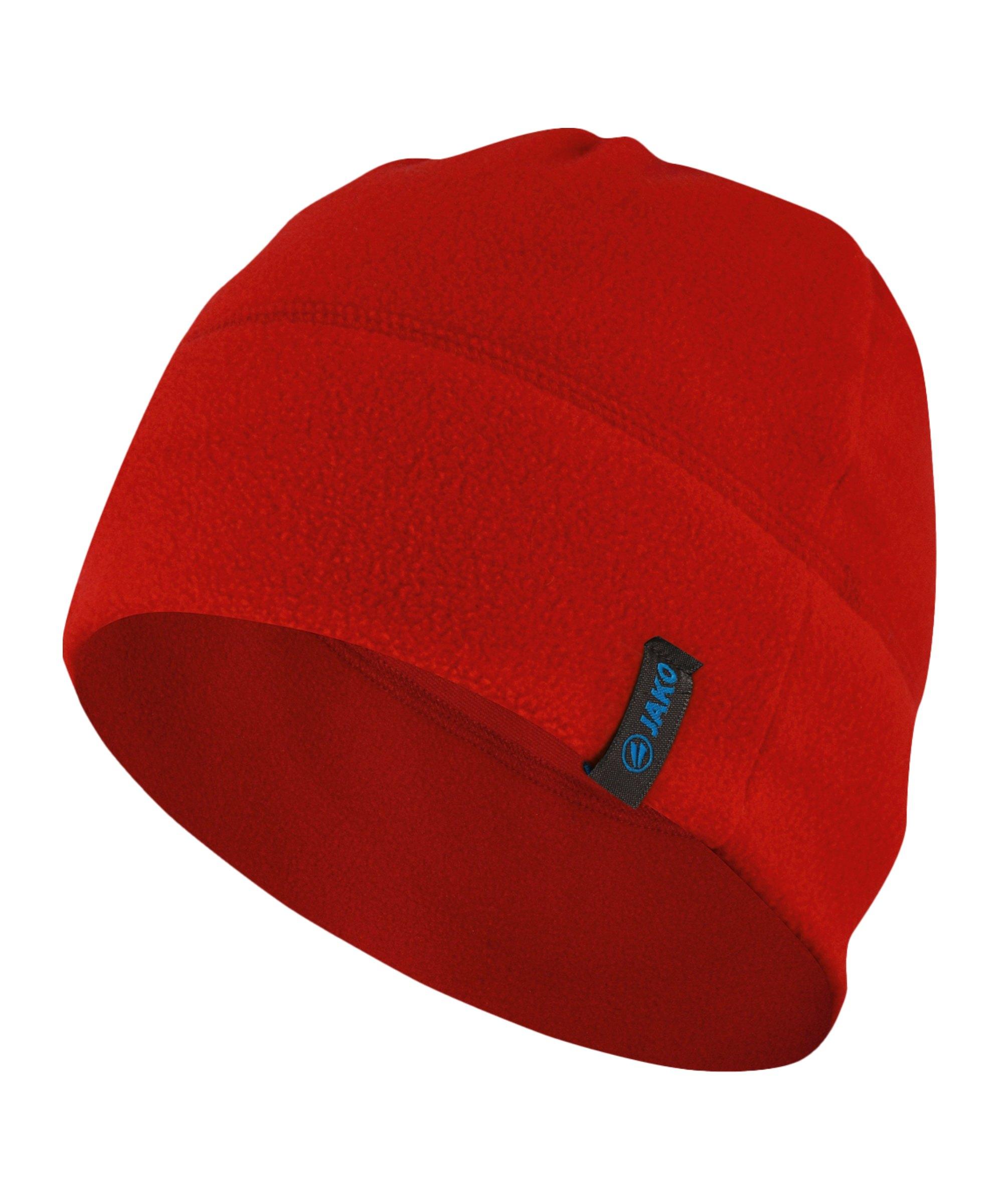 Jako Fleecemütze Rot F01 - rot