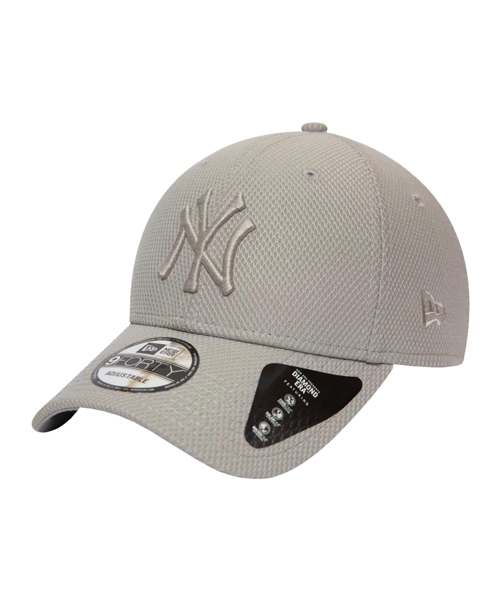 New Era NY Yankees Diamond Ess. 9Forty Cap FGRA - grau