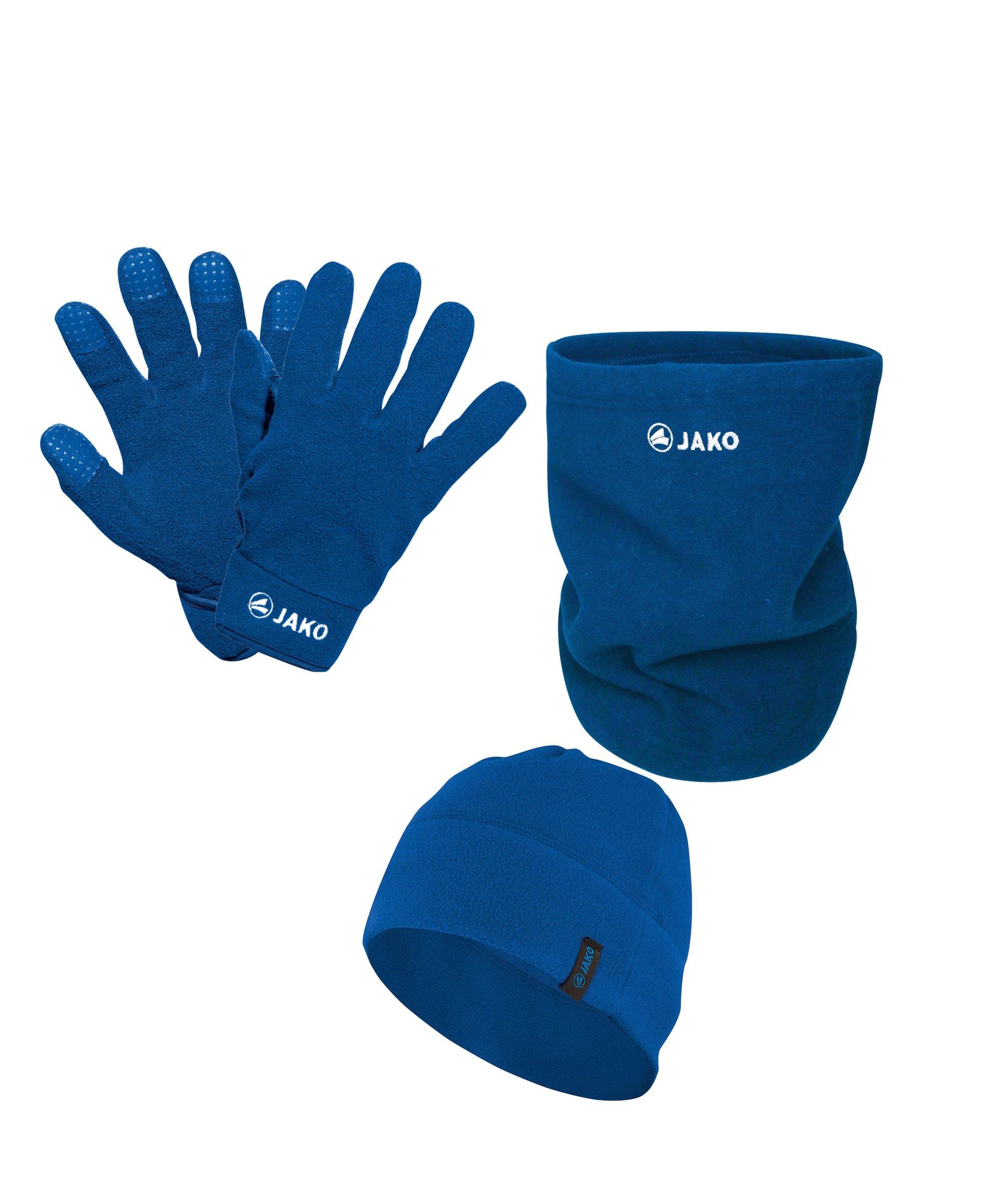 JAKO 3er Winter Set Handschuh + Beanie + Neckwarmer Hellblau - blau