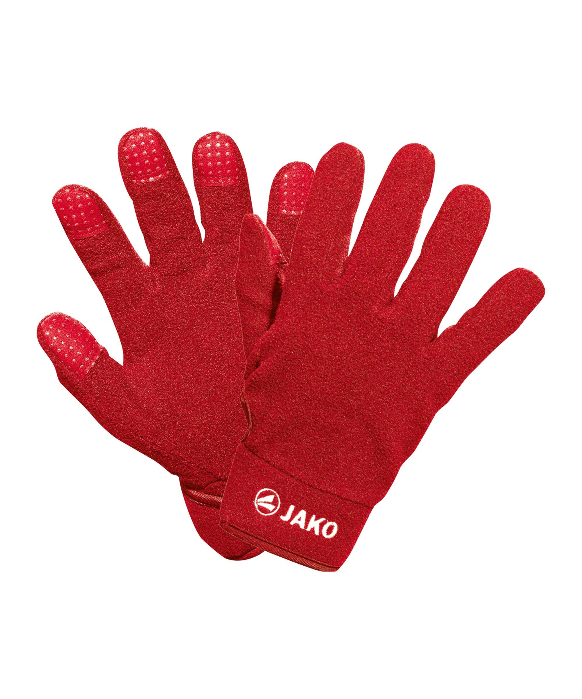 Jako Feldspielerhandschuh Fleece Rot F01 - rot