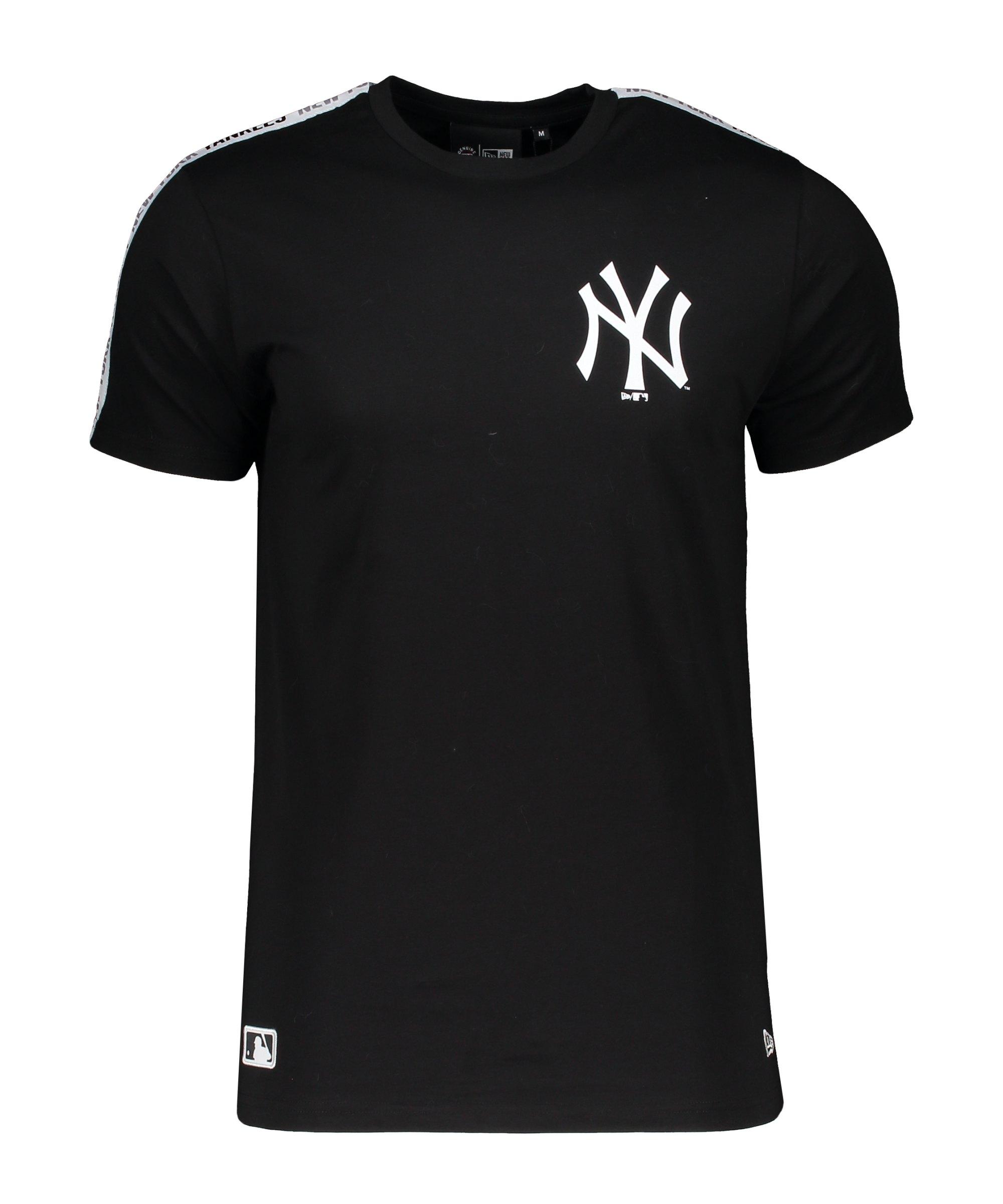 New Era NY Yankees MLB Taping T-Shirt FBLKWHI - schwarz