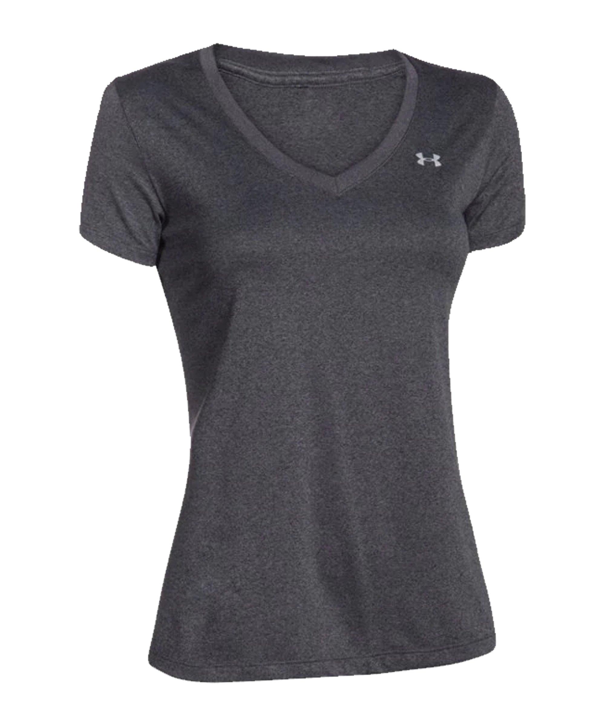 Under Armour Tech V-Neck T-Shirt Damen F090 - grau