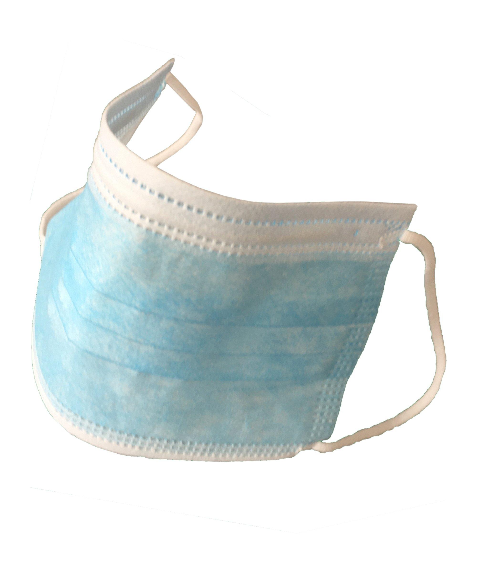 FMK OP Einweg-Masken 3-lagig 10er Pack Blau Weiss - blau