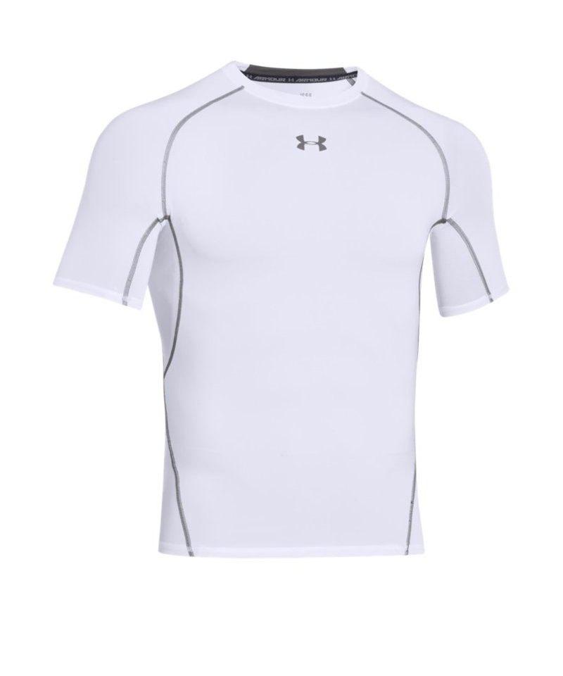 Under Armour Compression T-Shirt Heatgear F100 - weiss