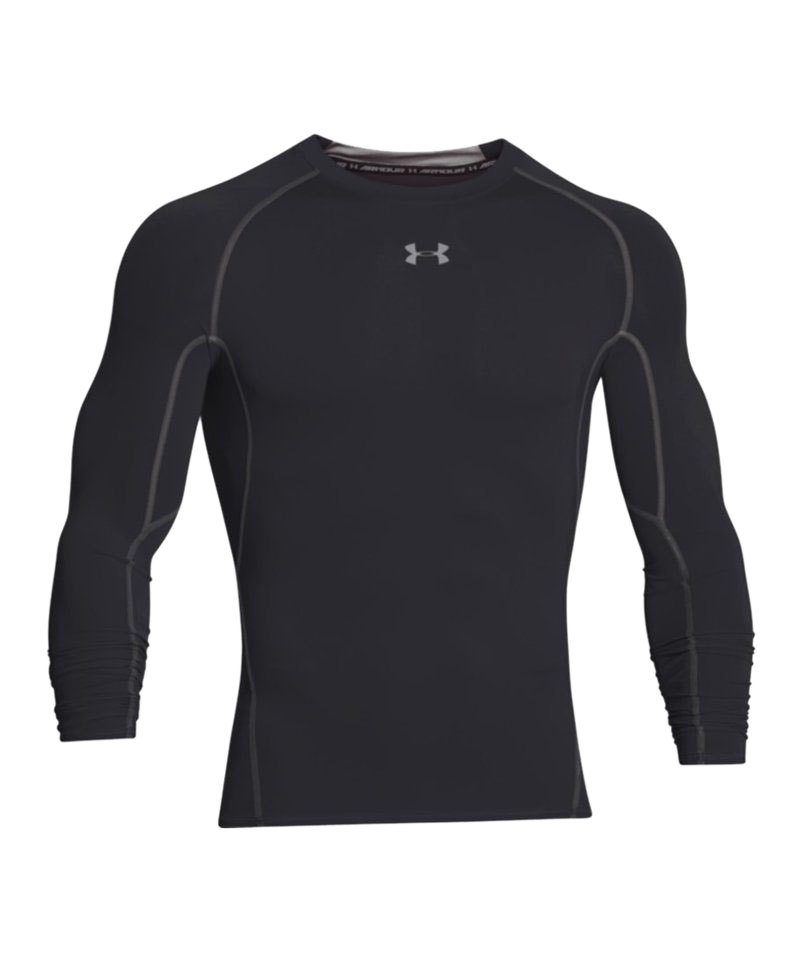 Under Armour LS Shirt Heatgear Compression F001 - schwarz