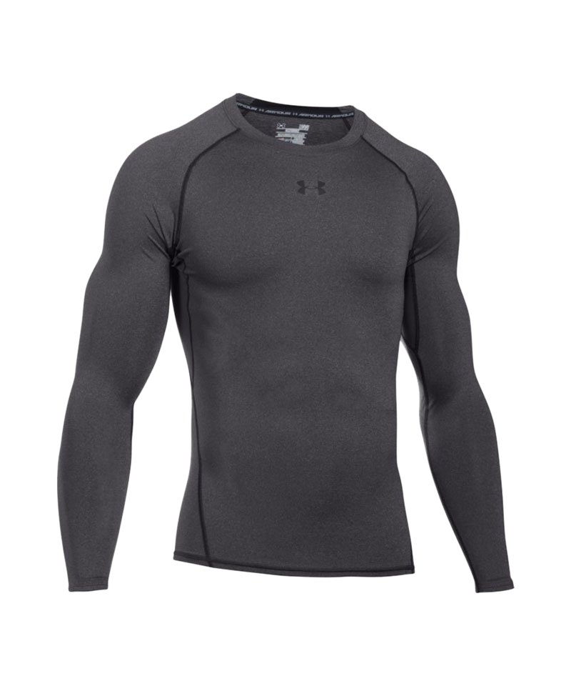 Under Armour LS Shirt Heatgear Compression F090 - grau