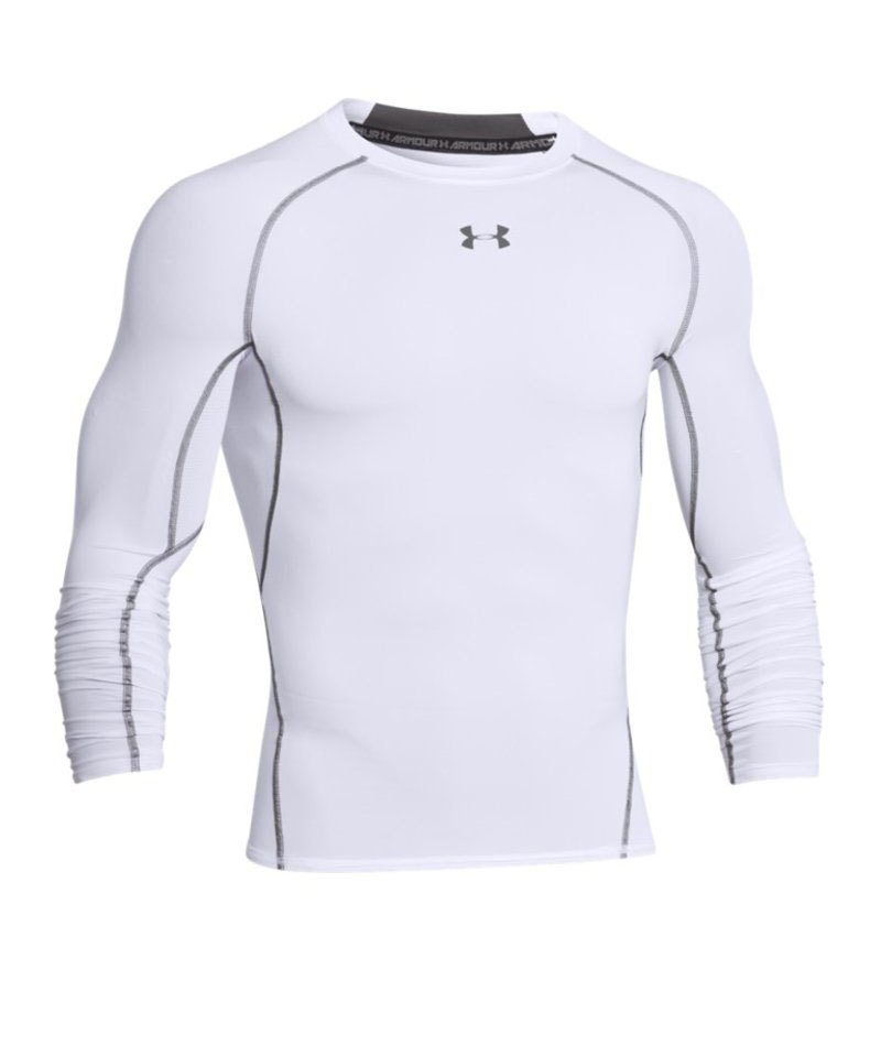 Under Armour LS Shirt Heatgear Compression F100 - weiss