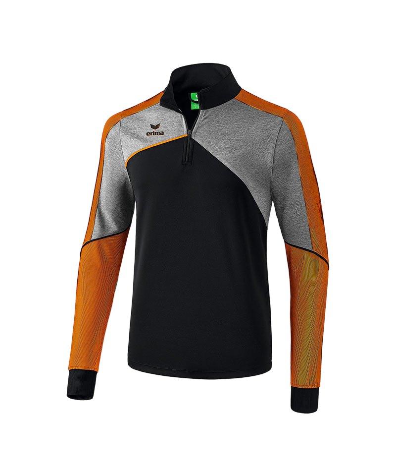 Erima Premium One 2.0 Trainingstop Schwarz Orange - schwarz