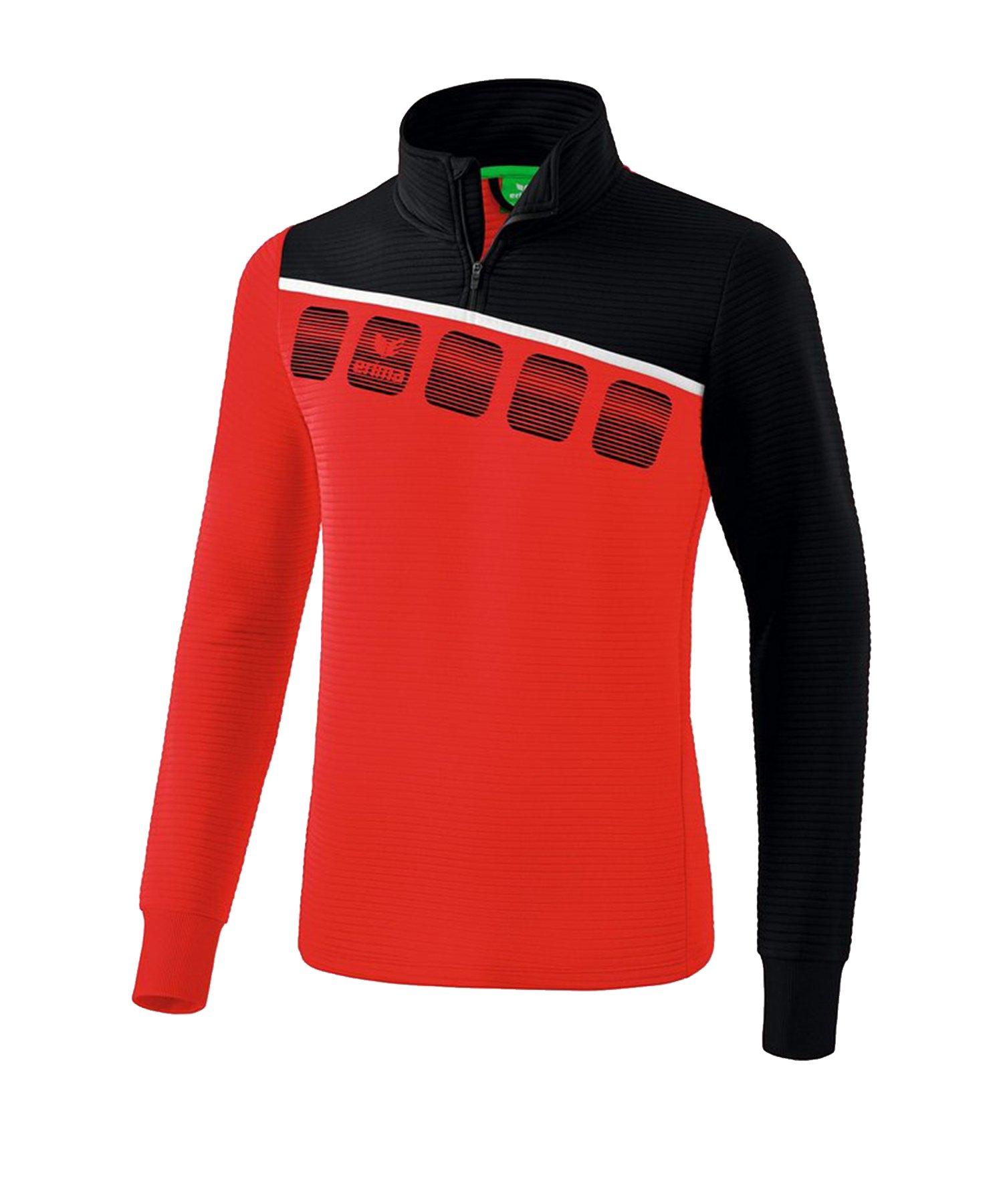 Erima 5-C Trainingstop Rot Schwarz - Rot