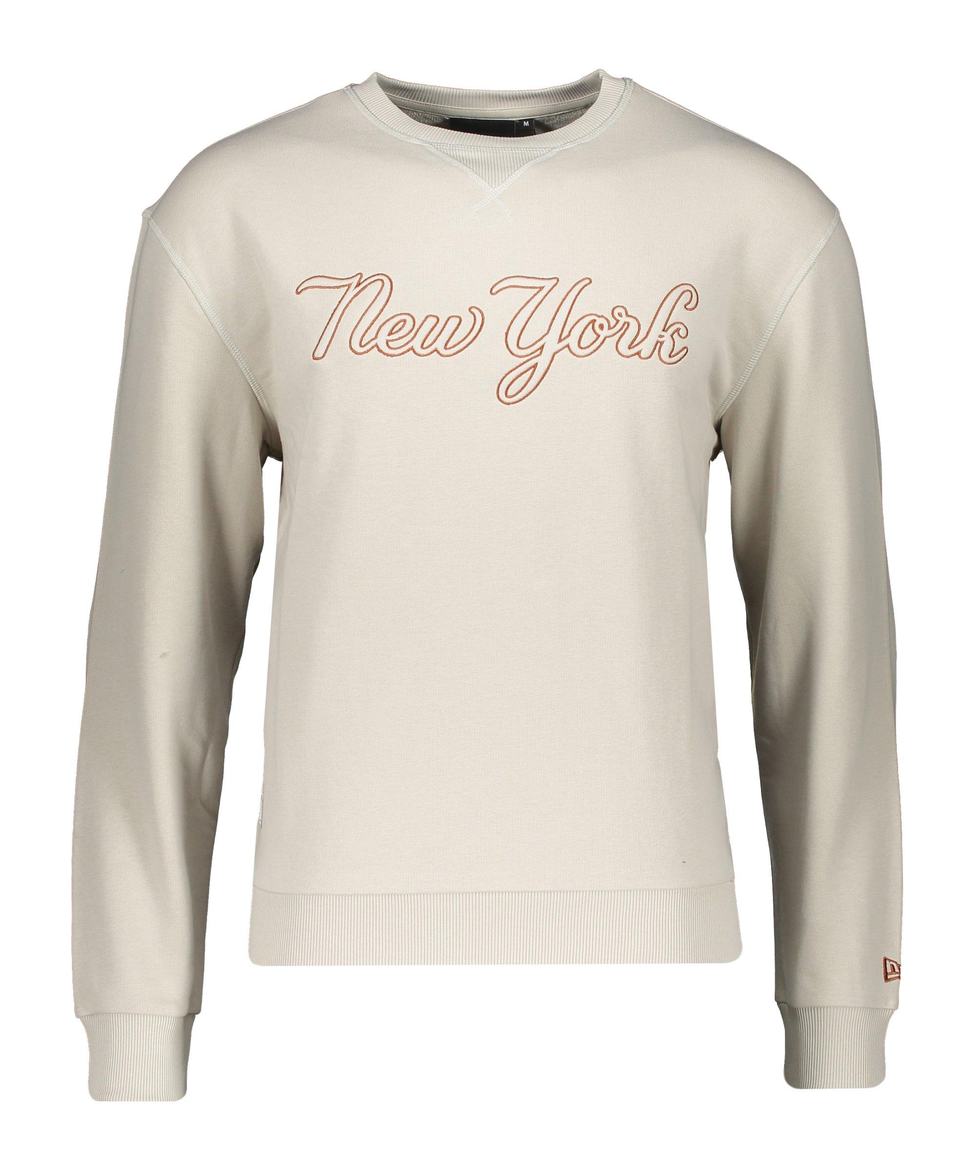New Era NY Yankees Script Crew Sweatshirt FSTNTOF - beige