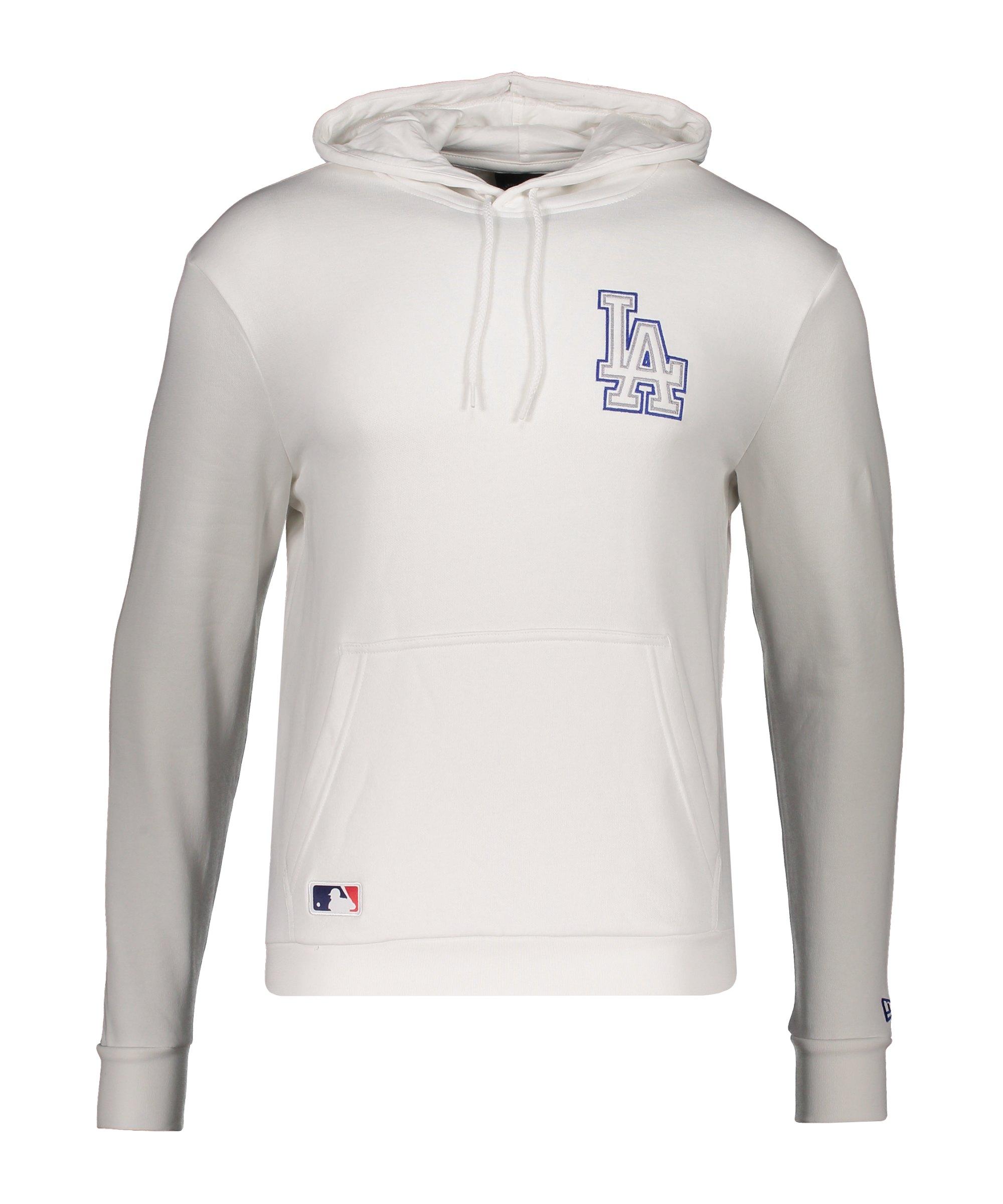 New Era LA Dodgers Chain Stitch Hoody Weiss FWHI - weiss