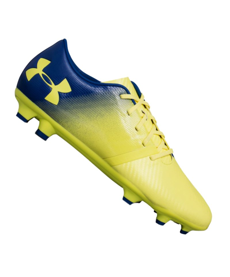 Under Armour Spotlight BL FG Gelb Blau F300 - gelb