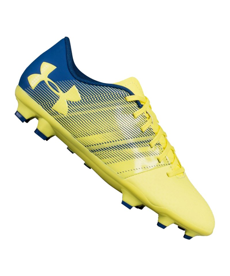 Under Armour Spotlight DL FG Kids Gelb Blau F300 - gruen