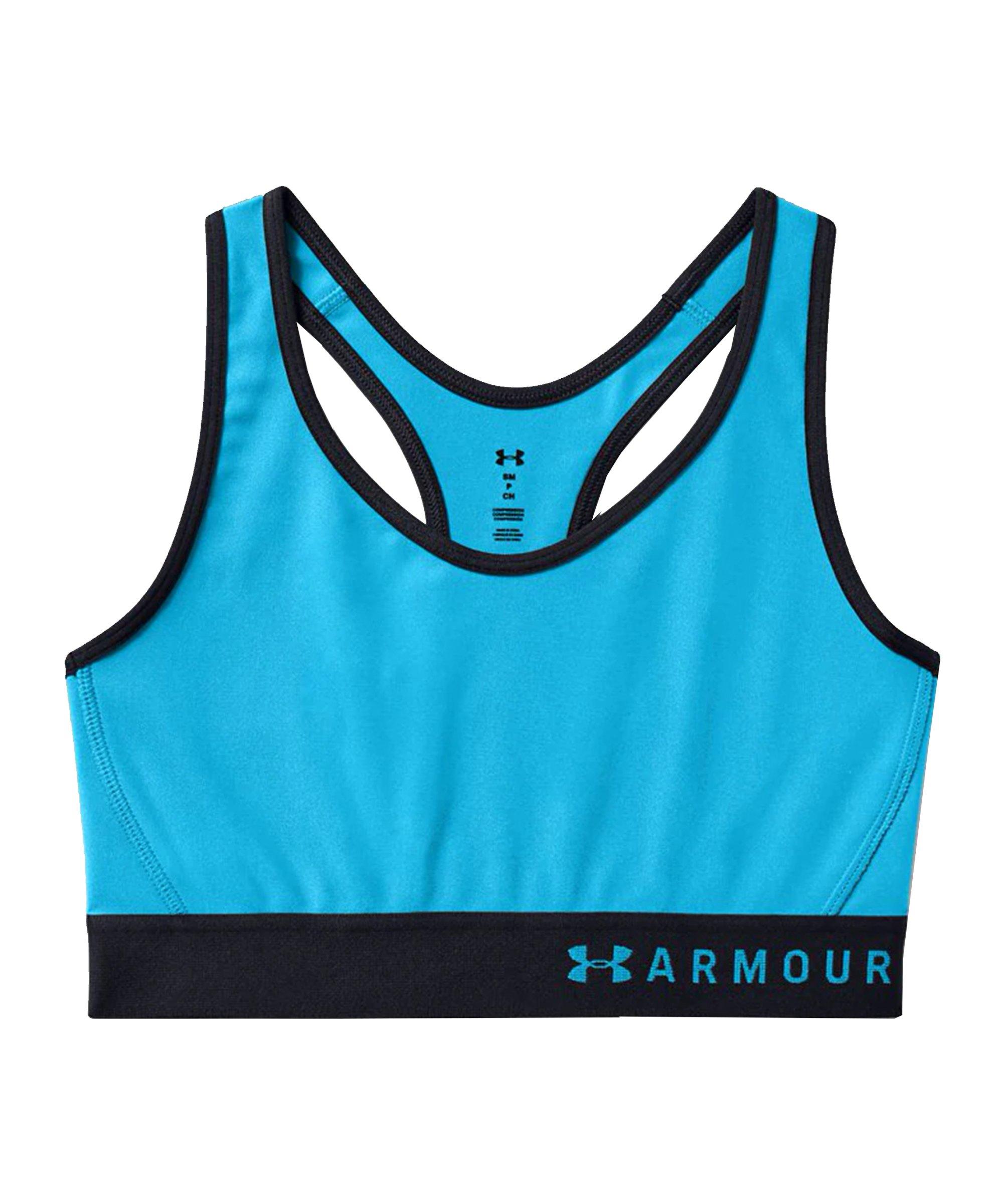 Under Armour Mid Keyhole Sport-BH Damen Blau F417 - blau
