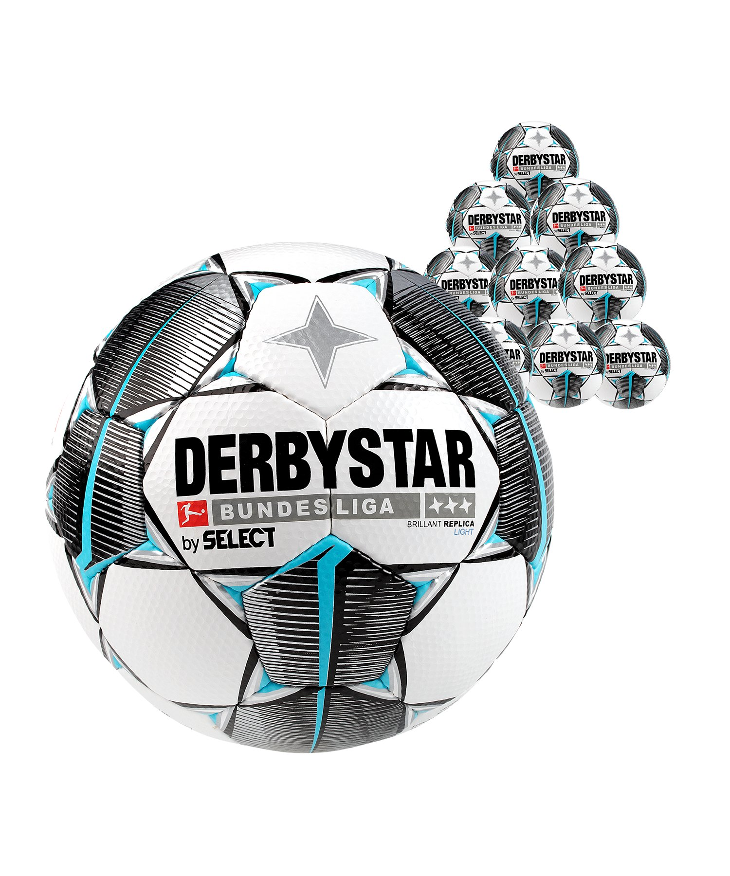 Derbystar Bundesliga Bril. Replica Light 20x Gr.5 Weiss F019 - weiss