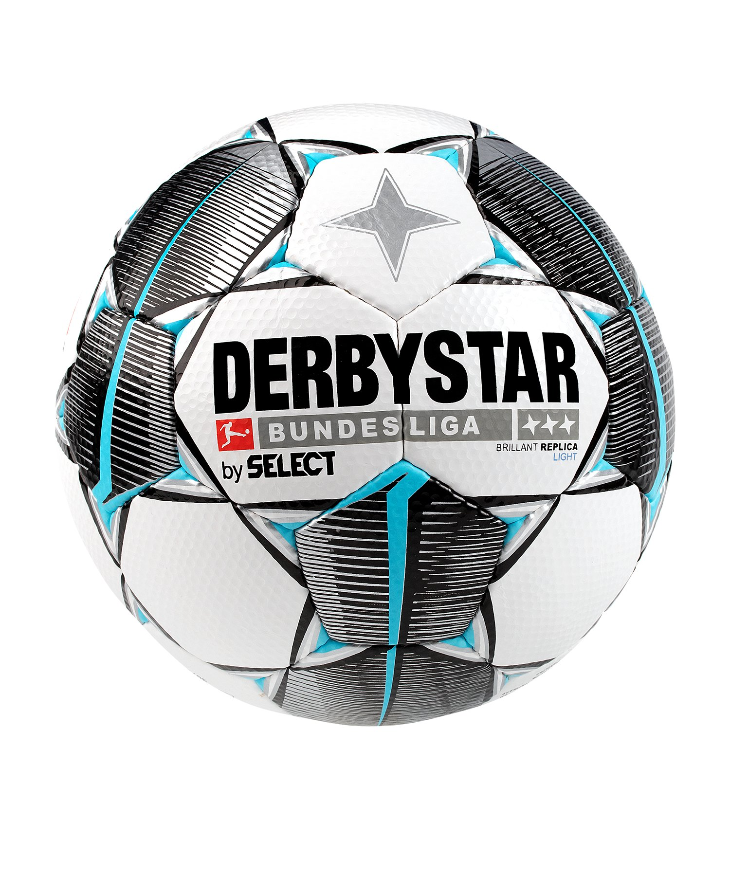 Derbystar Bundesliga Brillant Replica Light 350g Fussball Weiss F019 - weiss