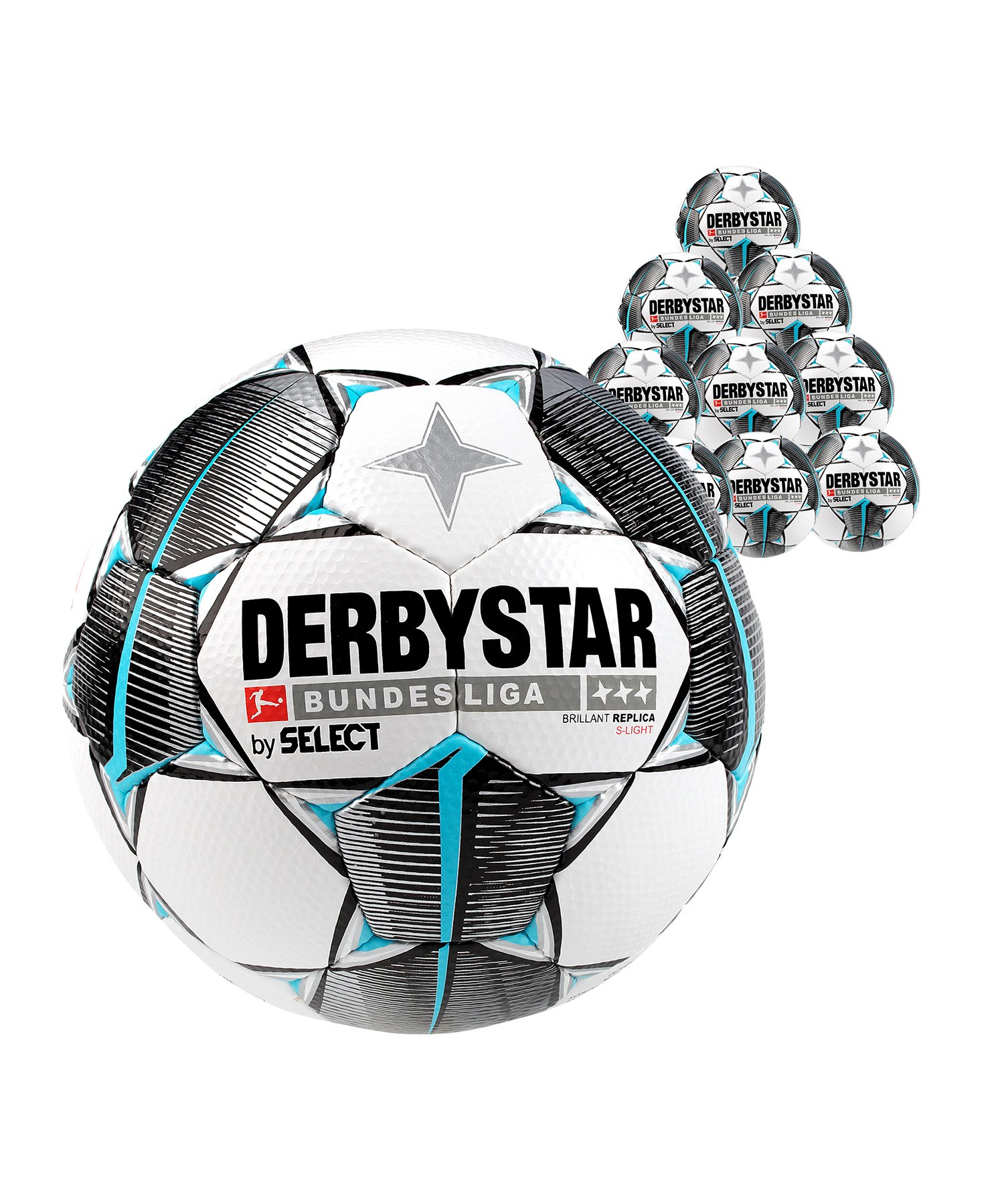Derbystar Bundesliga Bril Replica S-Light 10x Gr.4 Weiss F019 - weiss