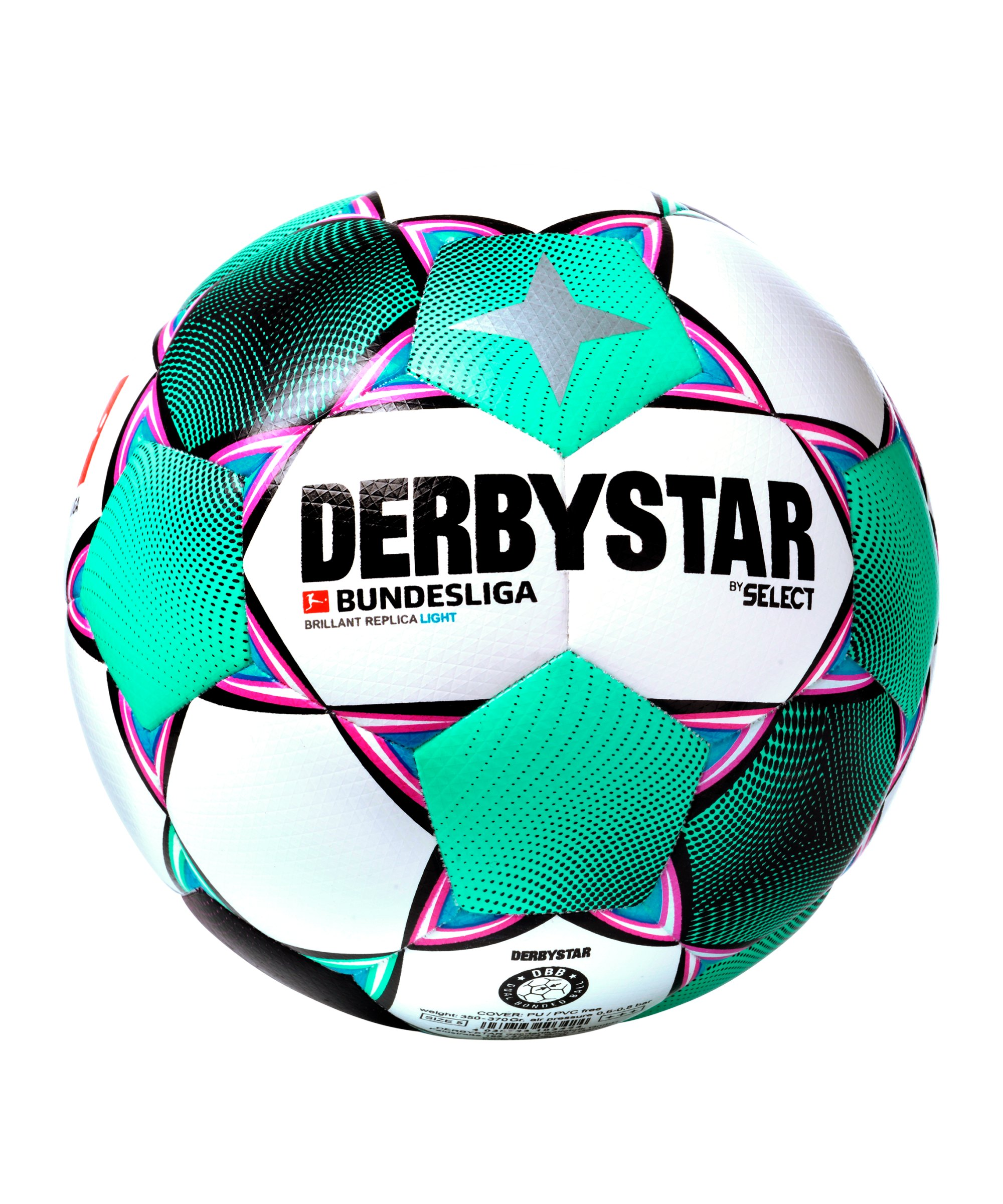 Derbystar BL Brillant Replica Light 350 Gramm Trainingsball Weiss F020 - weiss
