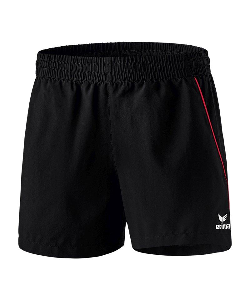 Erima Tischtennis Short Damen Schwarz Rot - schwarz