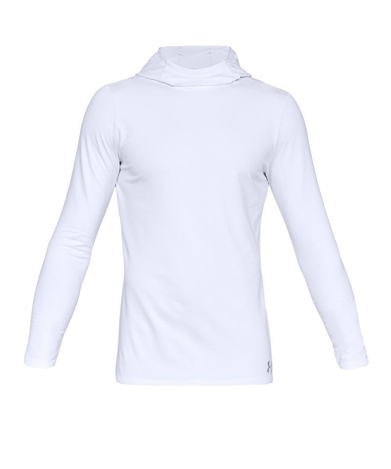 Under Armour Fitted CG Hoody Weiss F100 - weiss