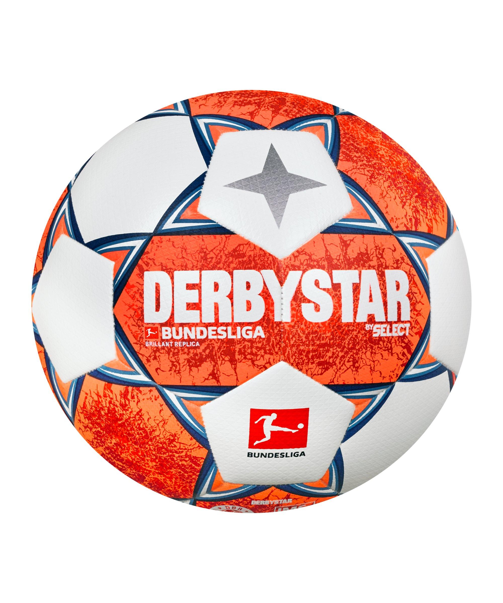 Derbystar Bundesliga Brillant Replica v21 Trainingsball 2021/2022 Orange Blau Weiss F021 - orange
