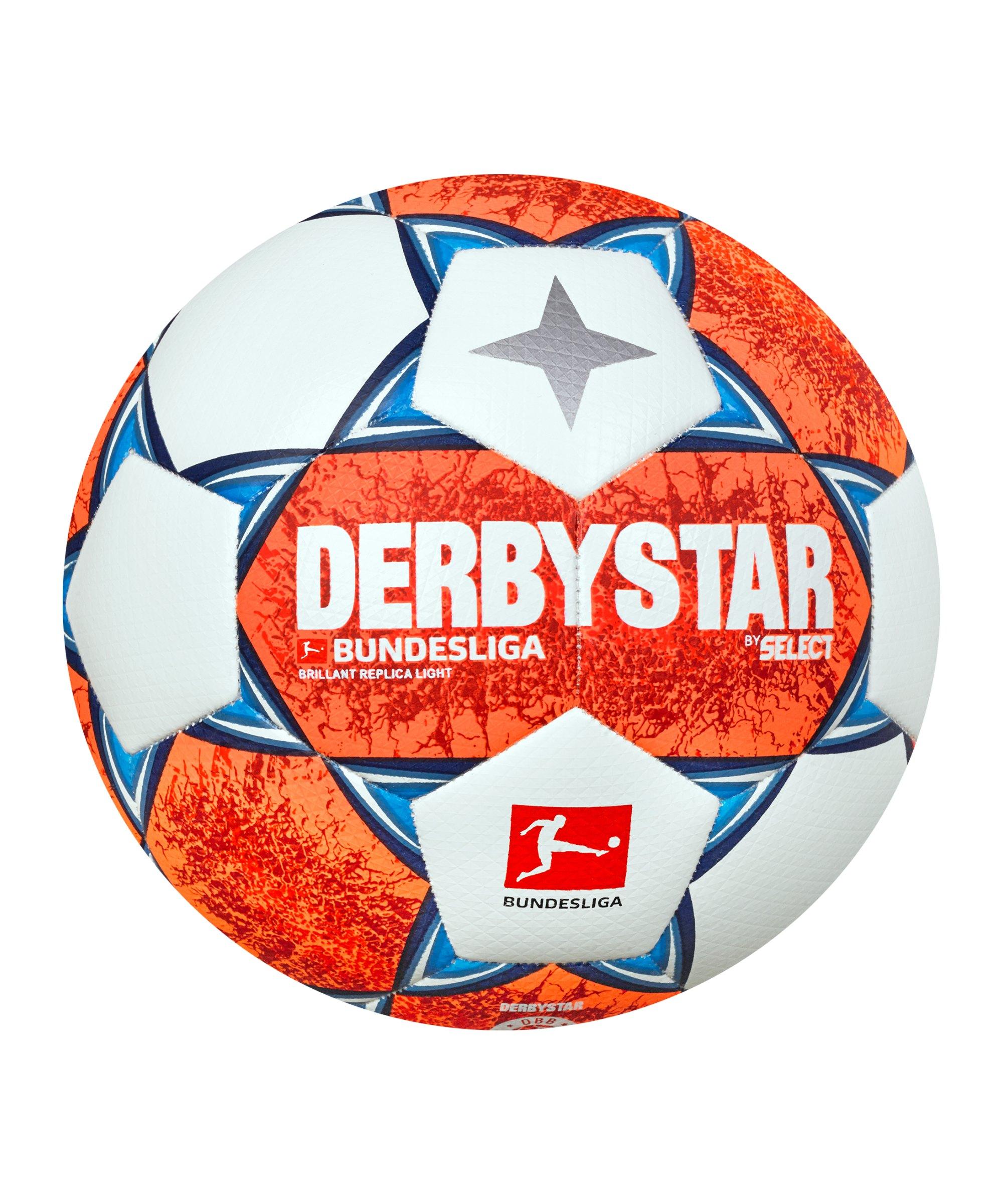 Derbystar Bundesliga Brillant Replica Light v21 Trainingsball 360 Gr. 2021/2022 Orange Blau F021 - orange
