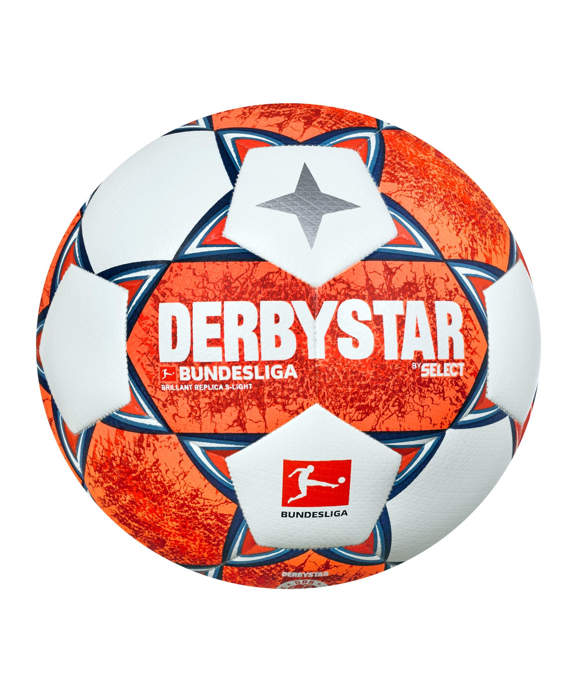 Derbystar Bundesliga Brillant Replica S-Light v21 Trainingsball 290 Gr. 2021/2022 Orange Blau F021 - orange