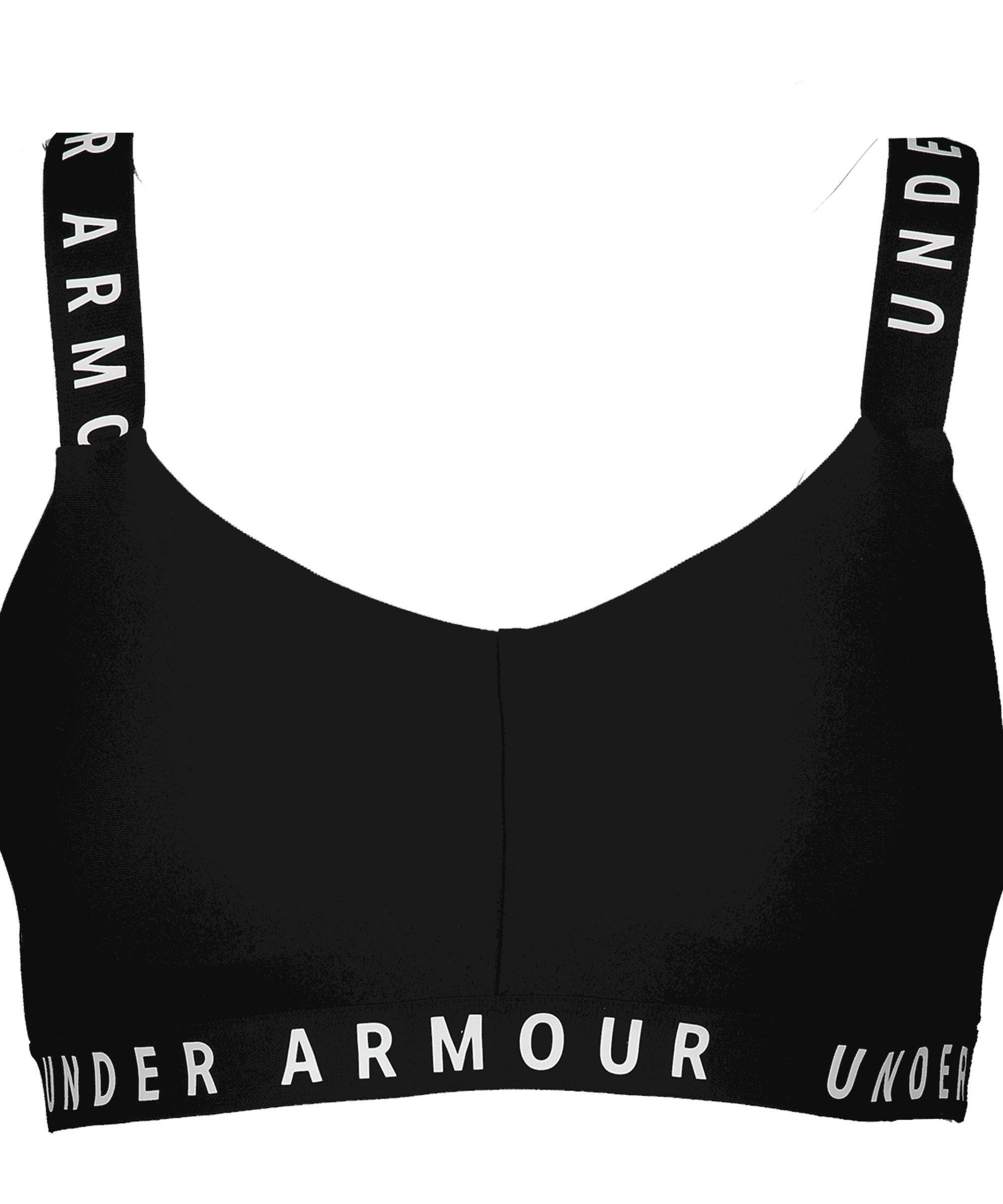 Under Armour Wordmark Strappy Sportlette F001 - schwarz